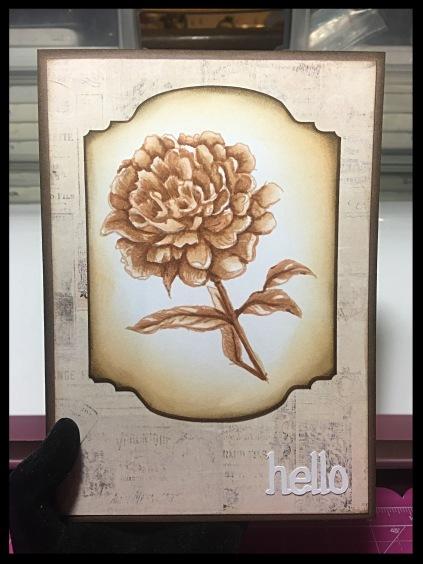 sepia-flower-hello-card