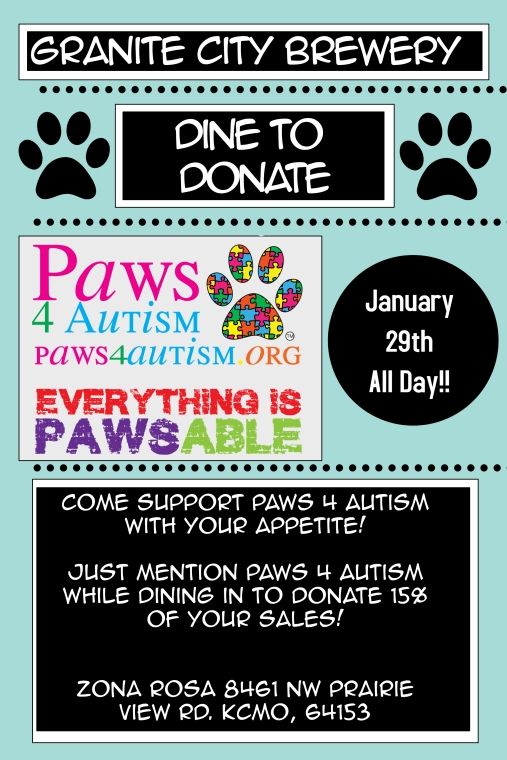 New Paws4Autism Flyer